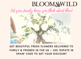 Bloom and WIld Flowers banner on Expats in Spain