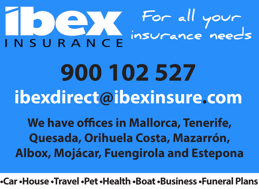 Ibex Insurance banner on Expats in Spain
