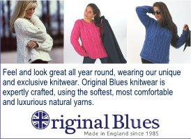 Original Blues, girl in blue sweater banner on Expats in Spain