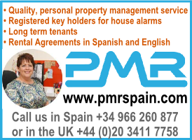 PMR Property Rentals in Spain banner on Expats in Spain