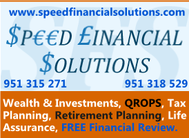 Speed Financial banner on Expats in Spain